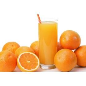 Orange boîte de jus de 15 kilos.